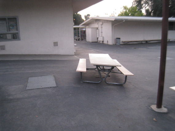 SKATE ALL CITIES San Pascual Elementary School Los Angeles CA - Picnic table los angeles